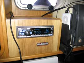 New stereo cabinet with access to AUX RCA inputs