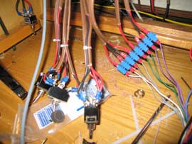 A lot of thought (and wires) went into the switches for the stereo speakers
