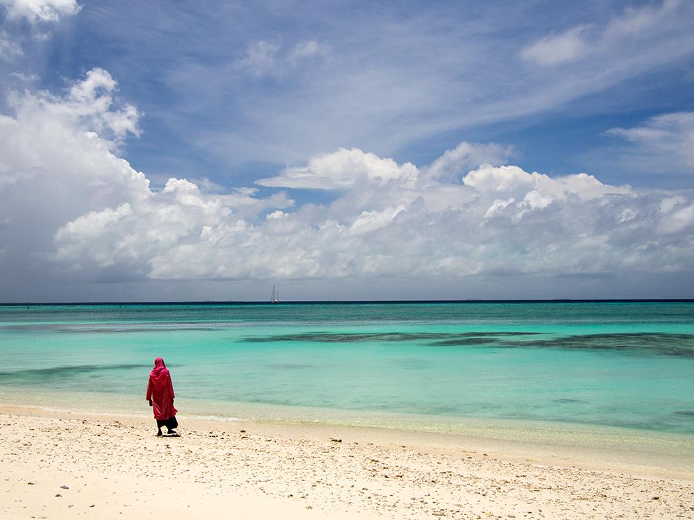 The Maldives - desolate beaches