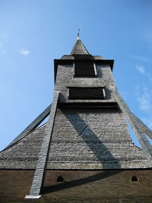 Honfleur, wooden church spire