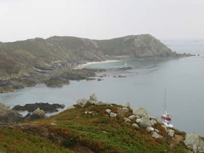 Barnacle Bill anchored off Iles de Sept
