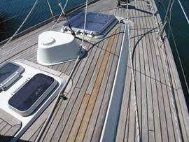 Replaced deck planks (centre)