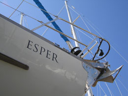 Lettering on the bow