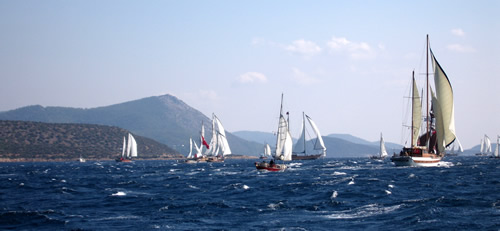 Being at the back of the race does have its advantages - great views!