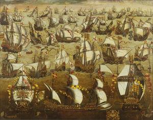 Spanish Armada leave Ferrol in 1588
