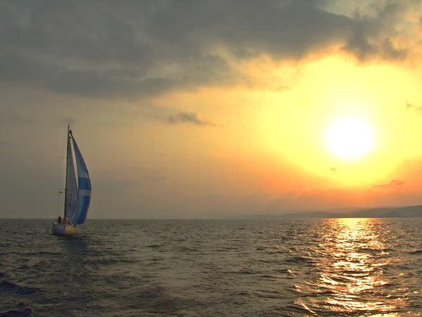 Esper sailing up the north east coast of Cyprus. Source: Jim Hughes
