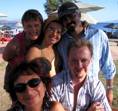Liz, Bilge, Salih, Fred and Nilgun
