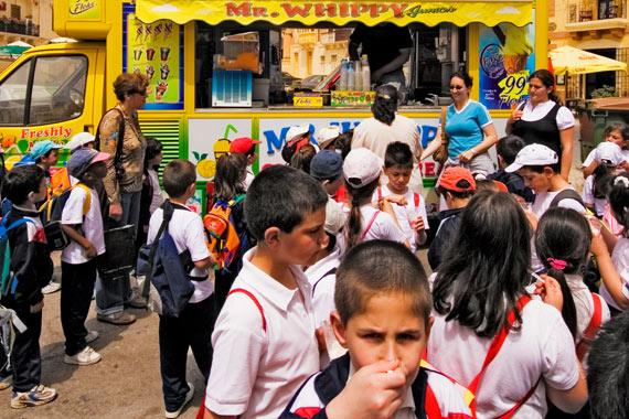 School break in Marsaxlokk
