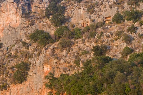 Rock tombs, as seen from Nuri's.