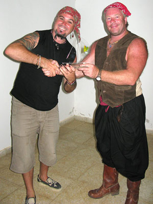 Gay pirate alert. Jamie and Alan, local man about town Source: Liz Cleere