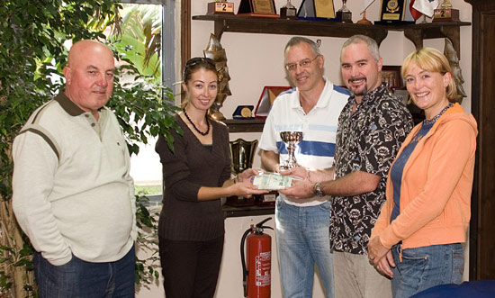 Marina manager, Mr Sener, Operations Manager, Nazli, Paul the tournament winner, Jamie and Liz