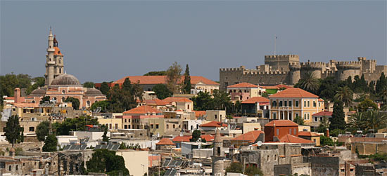 View across Rhodes town