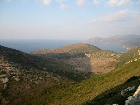 Looking north towards Mersincik from Knidos peak