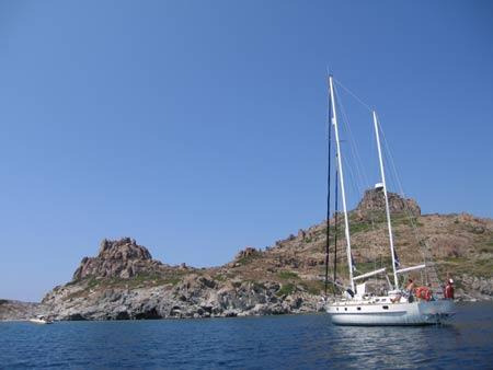 Esper at anchor at Catal Ada