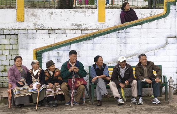 Waiting in Darjeeling town centre