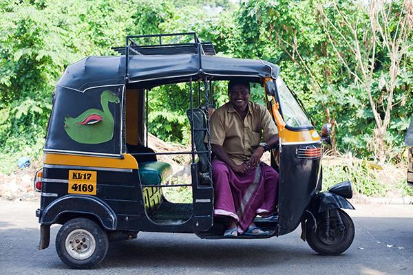 Nazer '72' in his rickshaw, ZamZam