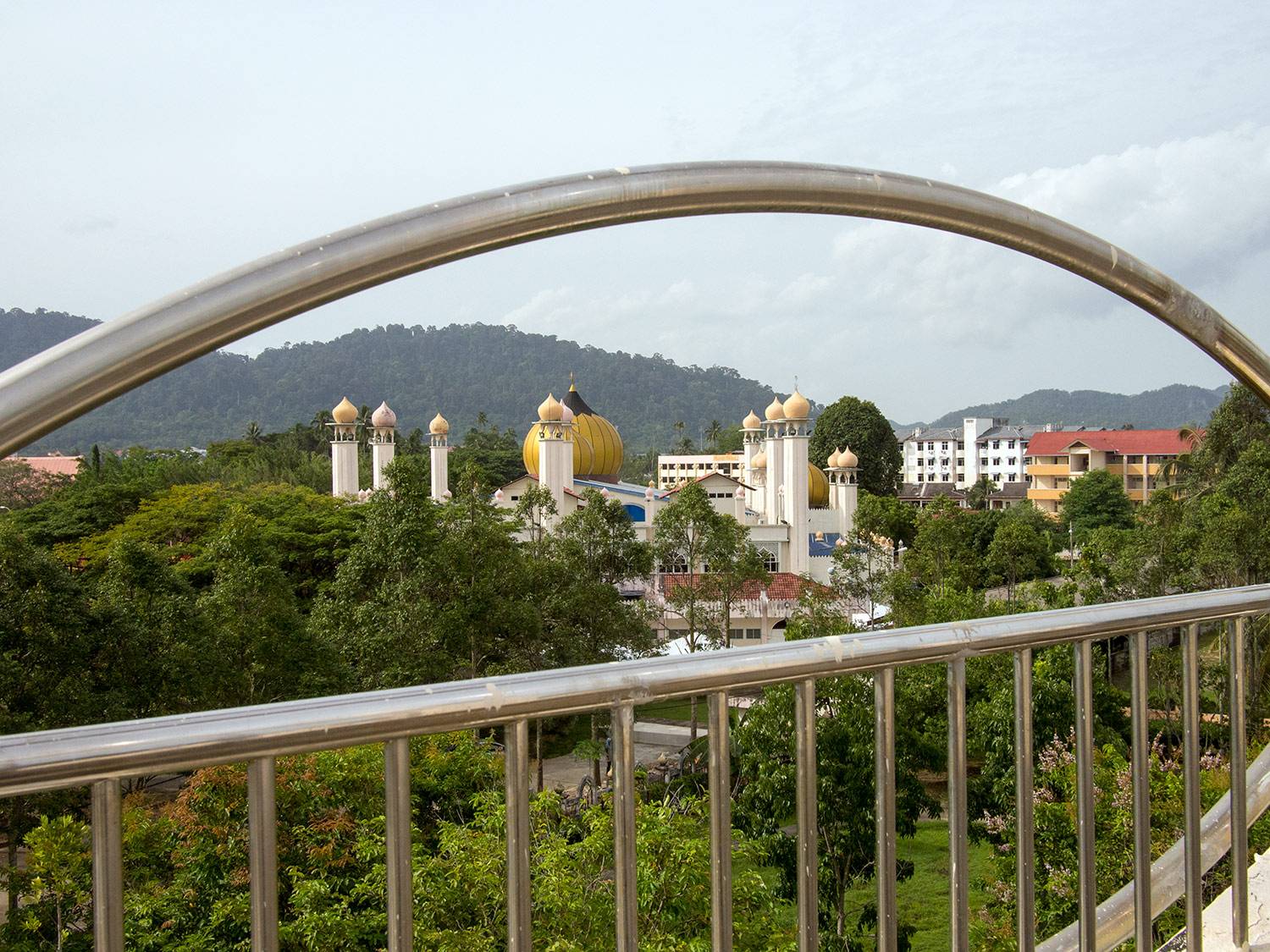 Looking out across the main mosque in Kuah, Langkawi