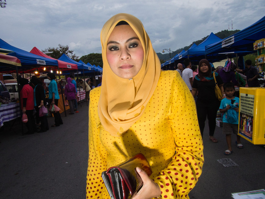 The food market in Kuah
