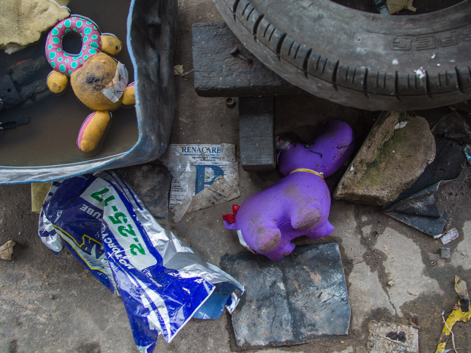 Old toys discarded in Satun, Thailand