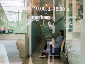 Sleeping on the job in Satun, Thailnd