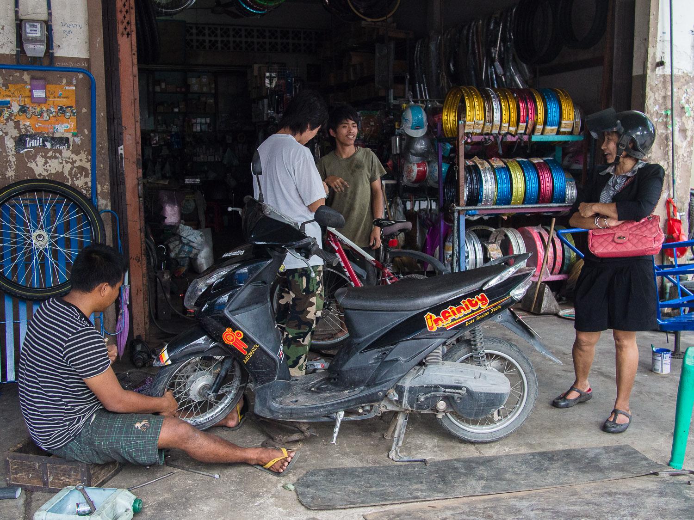 Motorbike repair shop, Satun, Thailand