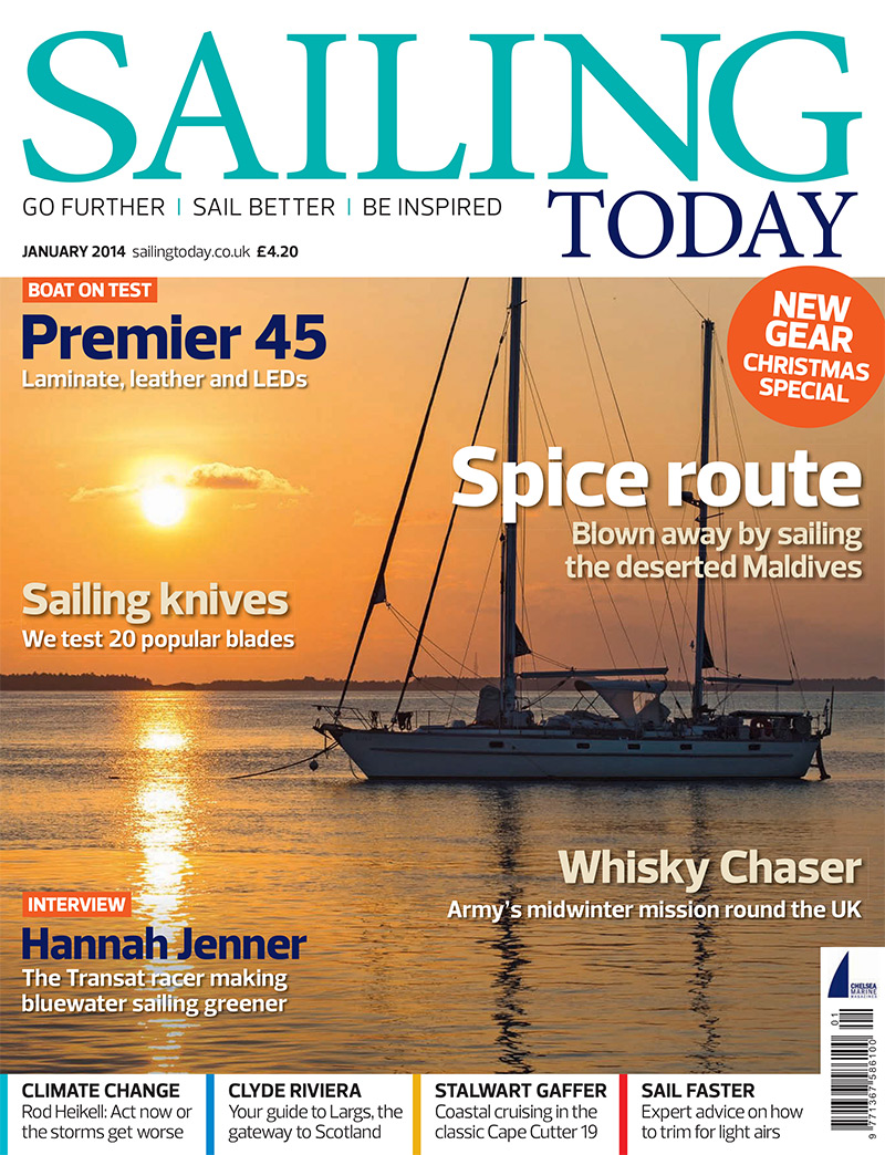 Followtheboat cover shot Sailing Today January 2014