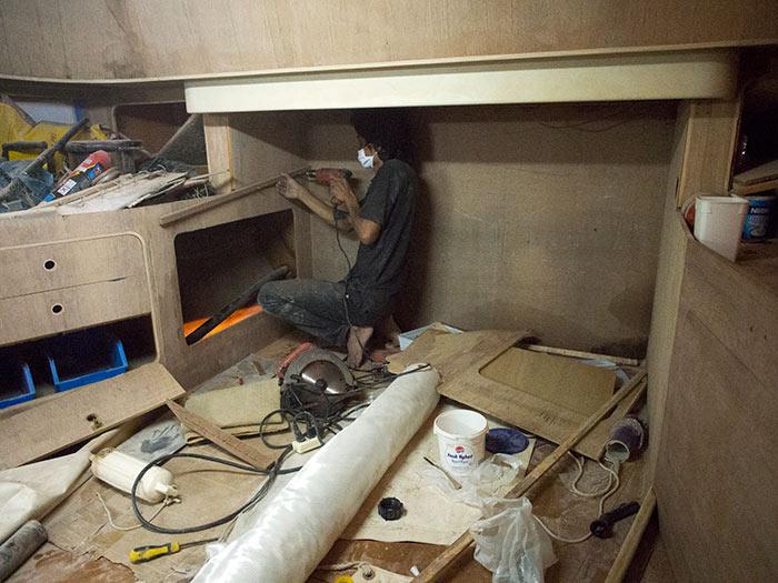 Ton reveals a secret storage compartment