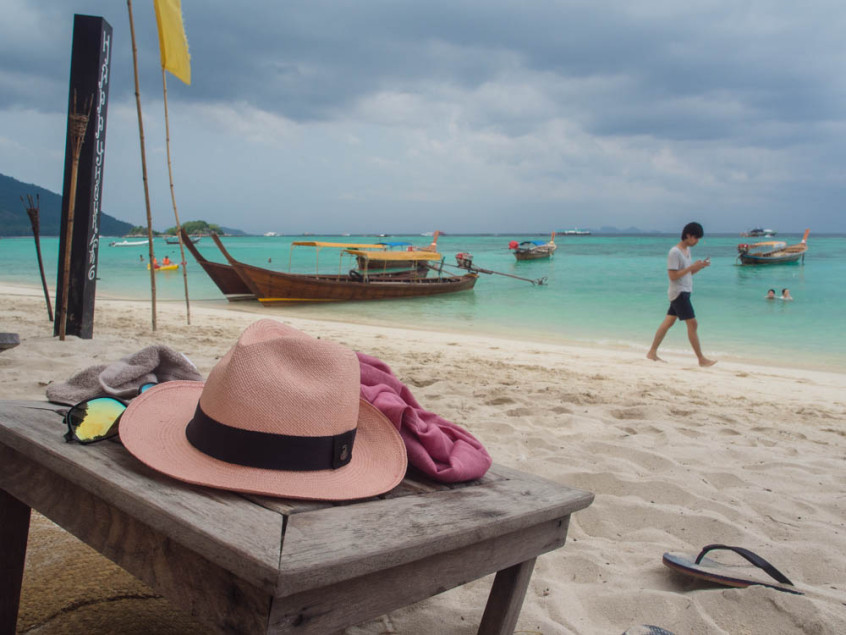 The beach of Castaway on Ko Lipe