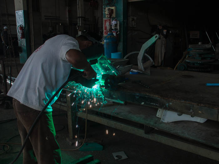 Yoong of PSS Satun doing some aluminum welding