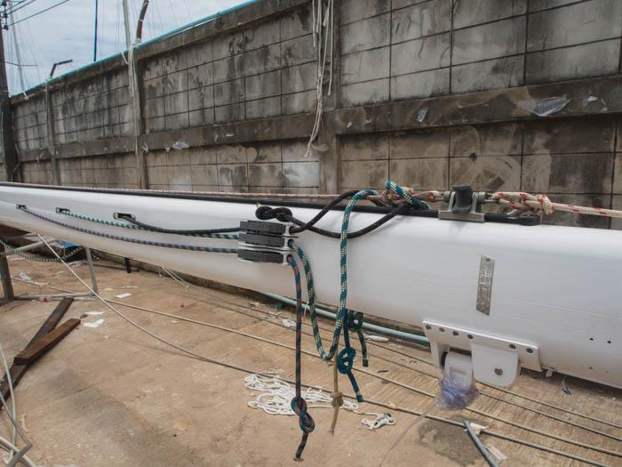 Esper's main mast, near completion