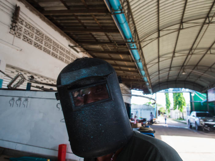 Yoong the welder at PSS Boatyard