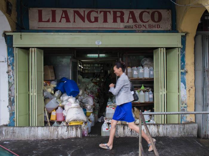 Liantraco chemical shop on Chulia Street