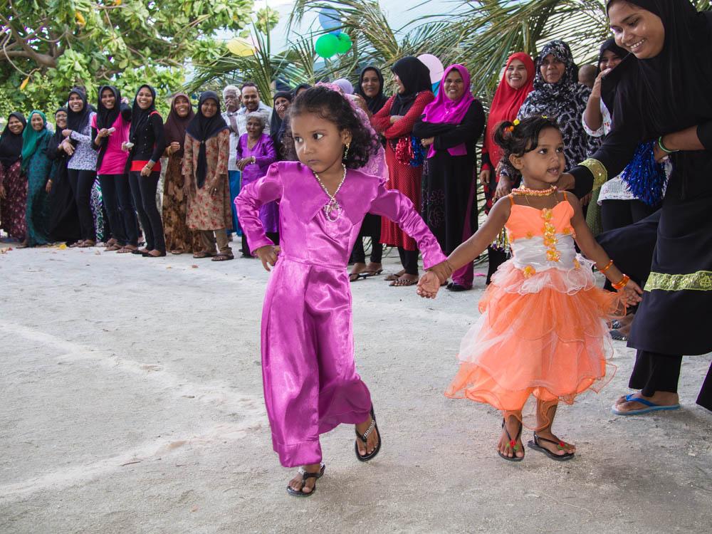 Children's fashion show on Children's Day, south Maldives