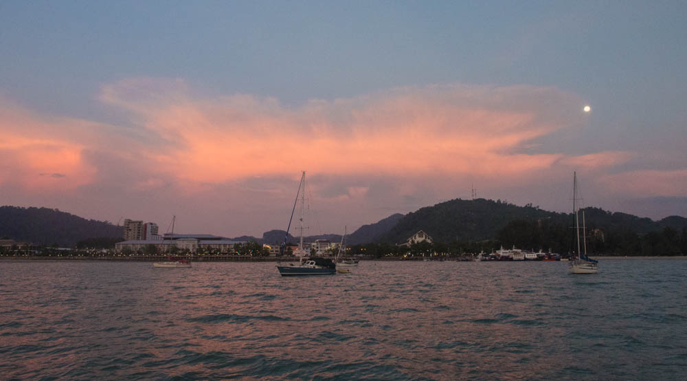 At anchor in Bass Harbour, Langkawi