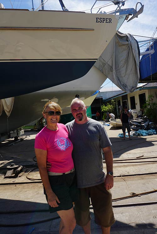 Liz and Jamie of s/y Esper