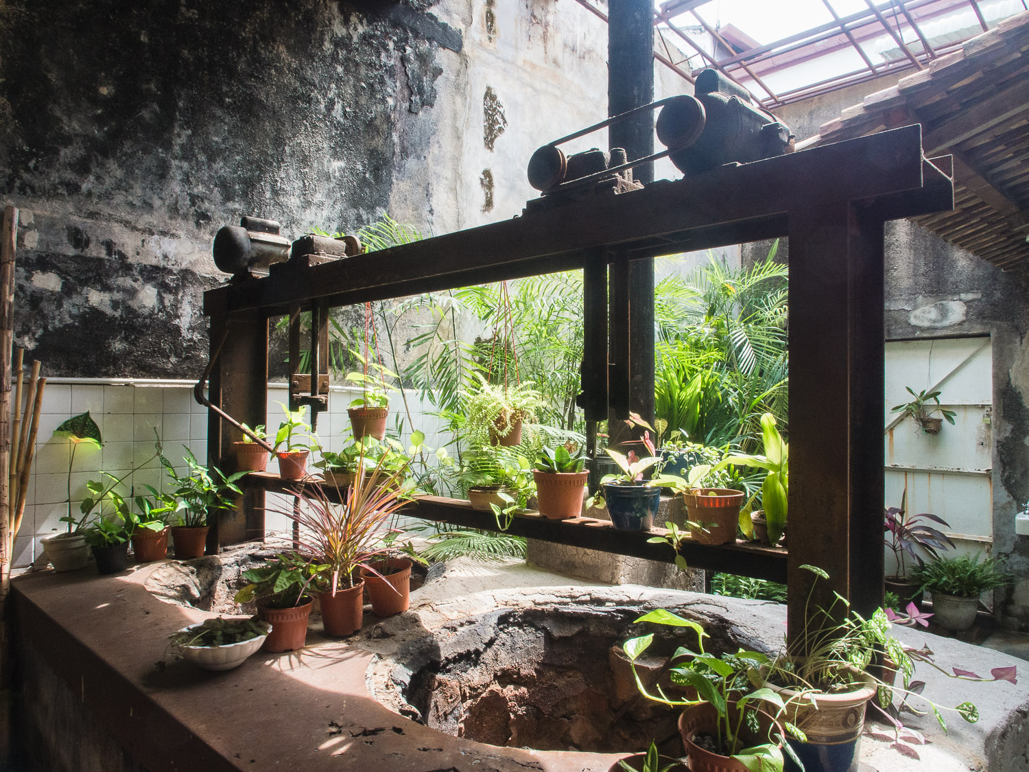 Inside a courtyard of a traditional Chinese shop, Penang, Georgetown