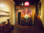 Inside a traditional Chinese building
