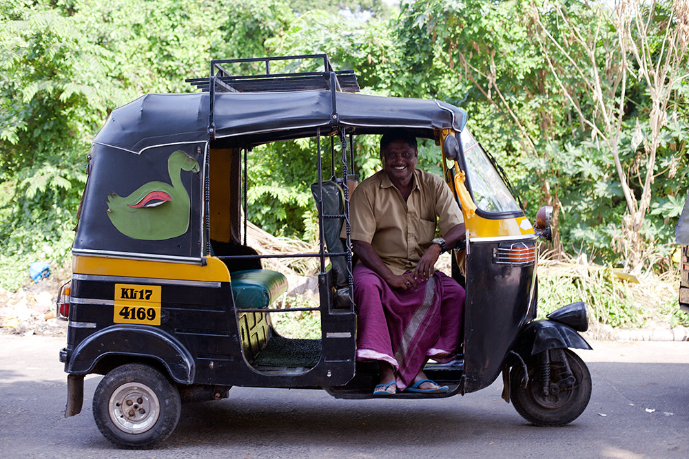 Nazer 72 in his auto-rickshaw