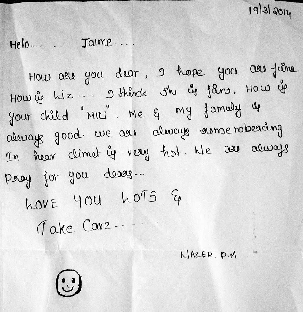 Letter from Nazer