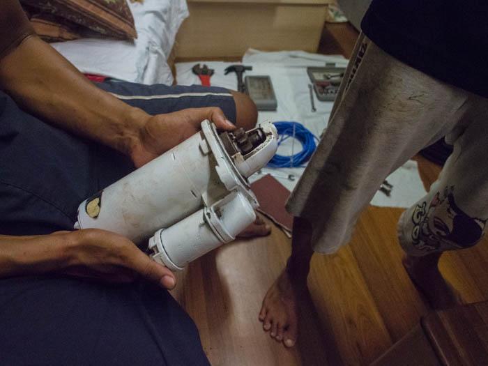 broken marine starter motor for perkins engine