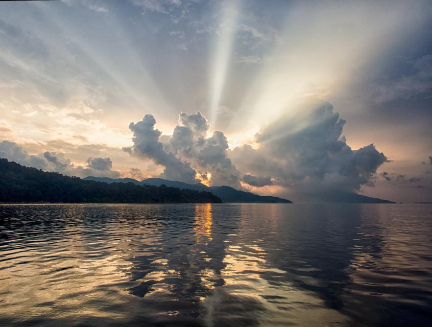 Sunrise over Adang, Butang Islands, Thailand