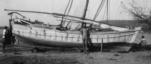 Ramprasad after being hauled out in the village of Chapora in Goa - March 1980