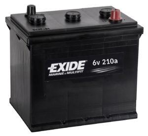 Esper runs on 6v batteries in series (then parallel)