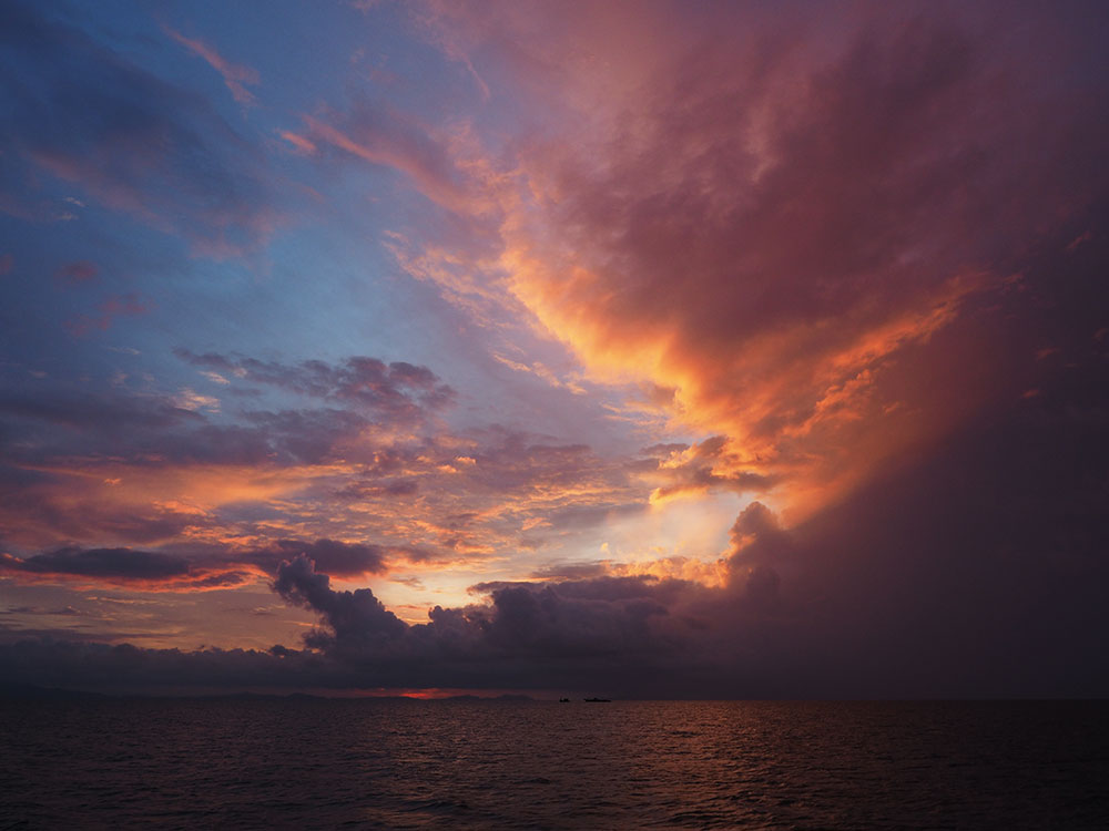 Storm clouds over Thailand